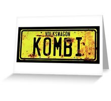 Volkswagen Kombi Plate © Greeting Card
