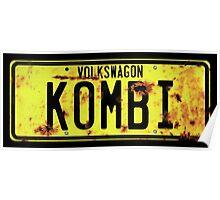 Volkswagen Kombi Plate Poster
