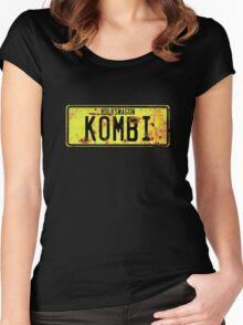 Volkswagen Kombi Plate © Women's Fitted Scoop T-Shirt