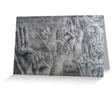 Be Your Hands Greeting Card