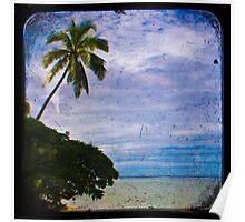 Trees & Beach Poster