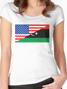 usa libya Women's Fitted Scoop T-Shirt