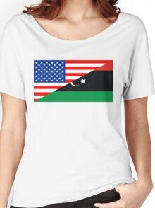 usa libya Women's Relaxed Fit T-Shirt