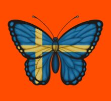 Swedish Flag Butterfly Kids Tee