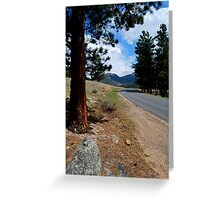 Rocky Mountain Highway To Serenity Greeting Card