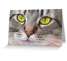 Amber Eyes Greeting Card
