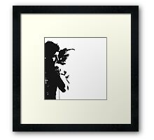 Guardian Black winged Angel print photography exclusive by David Berbia Framed Print