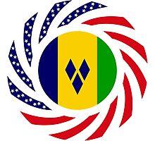 Saint Vincentian American Multinational Patriot Flag Series Photographic Print