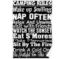 Camping Rules Poster