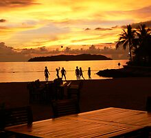 Sunset Games in Kota Kina Balu by Trish Woodford
