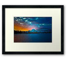 The Sydney Three - Sydney Harbour, Bridge and Opera House, Australia  Framed Print