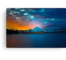 The Sydney Three - Sydney Harbour, Bridge and Opera House, Australia  Canvas Print