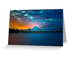 The Sydney Three - Sydney Harbour, Bridge and Opera House, Australia  Greeting Card