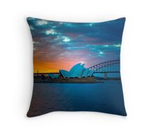 The Sydney Three - Sydney Harbour, Bridge and Opera House, Australia  Throw Pillow