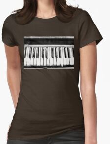 Eerie Piano Womens Fitted T-Shirt