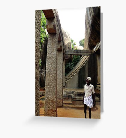 Cave Temple, South India Greeting Card