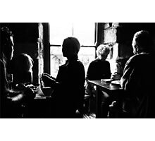 Lunchtime Conversations Photographic Print