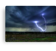 So.......Lightning Does Strike Twice in the Same Spot.... Canvas Print