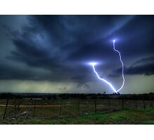 So.......Lightning Does Strike Twice in the Same Spot.... Photographic Print
