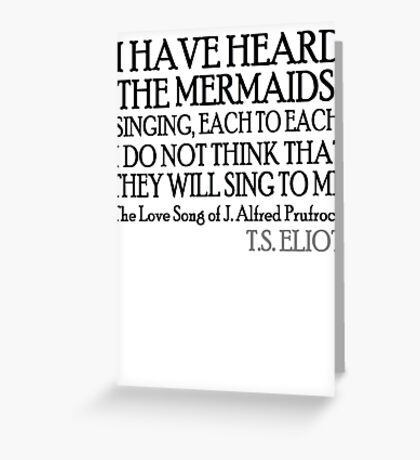 Prufrock's Mermaids Greeting Card