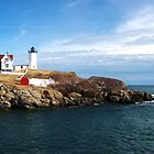 At the Nubble by Darlene Virgin