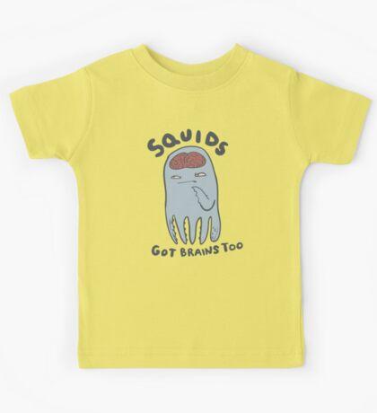 squids got brains too Kids Tee
