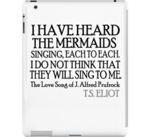 Prufrock's Mermaids iPad Case/Skin