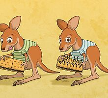 Spot five differences between these joeys by pixbyr