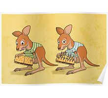 Spot five differences between these kangaroo joeys Poster