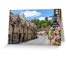 Tea Rooms, Castle Coombe, Wiltshire Greeting Card