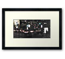 Downtown Rain Framed Print