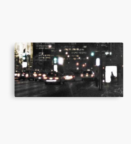 Downtown Rain Canvas Print