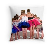 6 Tutus and 60 Toes Throw Pillow