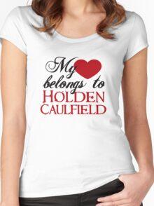 My Heart Belongs To Holden Caulfield Women's Fitted Scoop T-Shirt