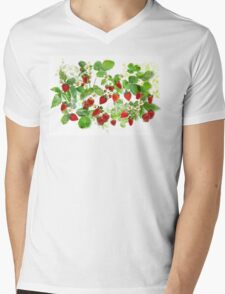 Ripe Strawberries from Provence Mens V-Neck T-Shirt