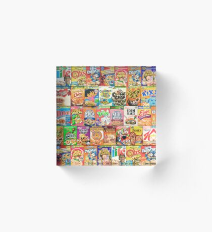 Cereal Boxes Acrylic Block