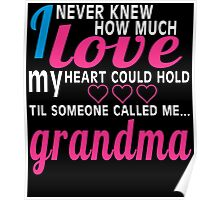 I NEVER KNEW HOW MUCH LOVE MY HEART COULD HOLD TIL SOMEONE CALLED ME GRANDMA Poster