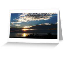 South China Sea sunset Greeting Card
