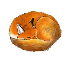 Foxy naps by sillybadger