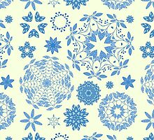 Round ornament seamless pattern by julkapulka