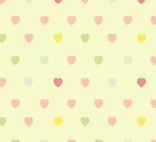 Heart shaped love vector cute pattern by julkapulka