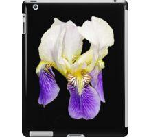Purple Iris on Black Background iPad Case/Skin