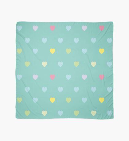 Heart shaped love vector cute pattern Scarf