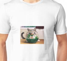 Cat in a fishbowl Unisex T-Shirt