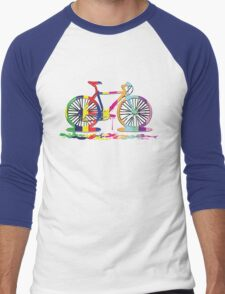 Rainbow bicycle Men's Baseball ¾ T-Shirt