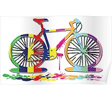 Rainbow bicycle Poster