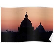 Sunset over Rome  Poster