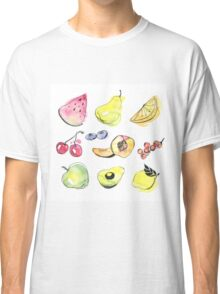 Watercolor fruits Classic T-Shirt