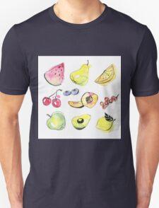 Watercolor fruits Unisex T-Shirt