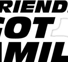 Family - black art Sticker
